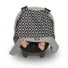 Balboa Car Seat Canopy in Black Lattice
