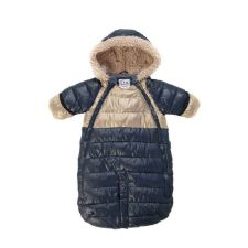 7AM Enfant Doudoune 100 Medium (3-6m) in Midnight Blue and Beige