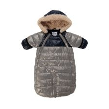 7AM Enfant Doudoune 100 Small (0-3m) in Grey and Black